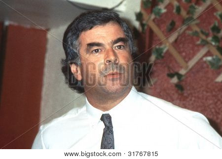 BLACKPOOL, ENGLAND - SEPTEMBER 4: Tony Dubbins, General Secretary of the National Graphical Association, speaks during the Trades Union Congress on September 4, 1989 in Blackpool, Lancashire, England.