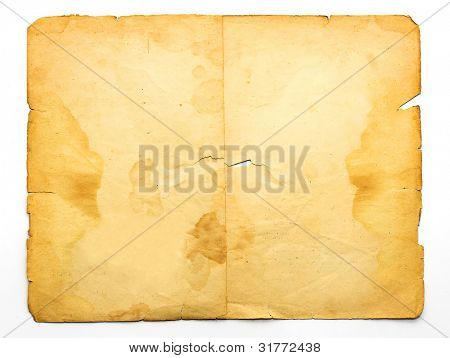 vintage stained paper