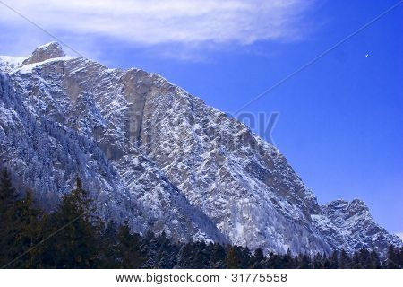 Snowcovered high mountain