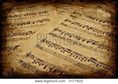 Musical Notes On Parchment