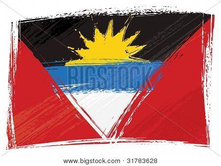 Grunge Antigua and Barbuda flag