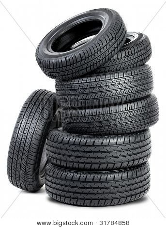Tires isolated on the white background