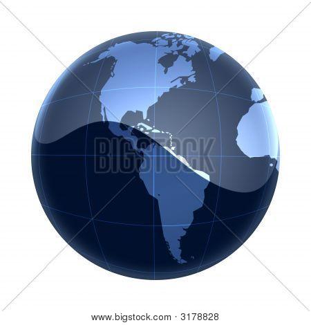 Blue Map World America