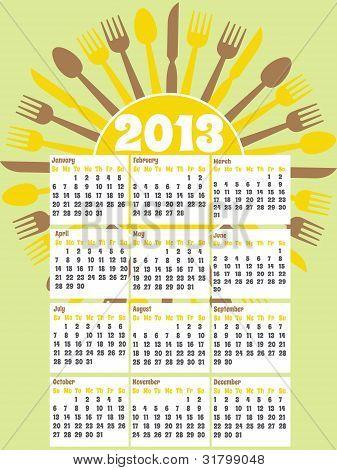 2013 diner calendar