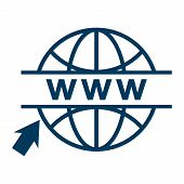 Click To Go To Online Website Or Internet Flat Vector Icon For Apps And Websites. Go To Web Icon In  poster