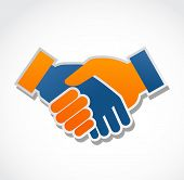 pic of prosperity sign  - handshake abstract vector illustration - JPG