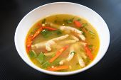 Chicken Feet Spicy Soup / Chicken Foot With Hot And Sour Soup Bowl With Fresh Vegetables Tom Yum Tha poster