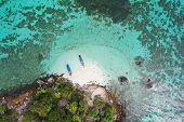 High Aerial Overview Of Entire Tropical Lipe Island poster