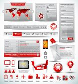 Постер, плакат: Премиум шаблоны и веб вещи мастер коллекции: графики гистограммы стрелы диаграмма инфографика