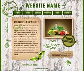 A green, organic, ecology, nature website template