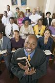 picture of preacher  - Preacher and Congregation - JPG