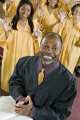 foto of ecclesiastical clothing  - Minister and Gospel Choir - JPG