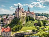 Sigmaringen Castle On Cliff, Germany. This Castle Is A Tourist Attraction Of Baden-wurttemberg. Beau poster