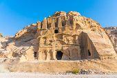 Yellow Obelisk Tomb Bab El-siq Triclinium Outer Siq Canyon Hiking To Entrance Into Petra Jordan Petr poster
