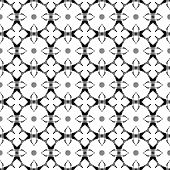 Black And White Geometric Seamless Pattern. Hand Drawn Watercolor Ornament. Beautiful Repeating Desi poster