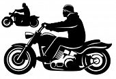 picture of siluet  - Motorcycle rider - JPG