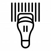 Commercial Barcode Scanner Icon. Outline Commercial Barcode Scanner Vector Icon For Web Design Isola poster