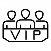 Vip Lodge Icon. Outline Vip Lodge Vector Icon For Web Design Isolated On White Background poster