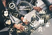 Qa Quality Assurance And Quality Control Concept. poster