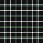 Tartan Plaid. Scottish Pattern In Black. White And Green Cage. Scottish Cage. Traditional Scottish C poster