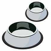 Cute, Beautiful Pet Shop Bowls For Animals, For Food And Water Big Bowl, Small Metal Bowl With Black poster