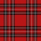 Christmas And New Year Tartan Plaid. Scottish Pattern In Black, Red And White Cage. Scottish Cage. T poster