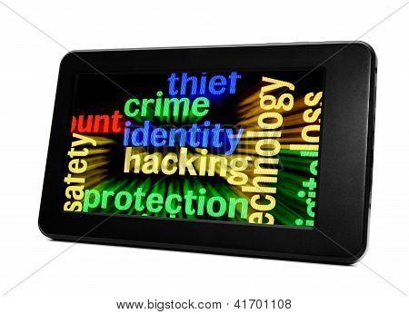 Hacking de identidade de crime