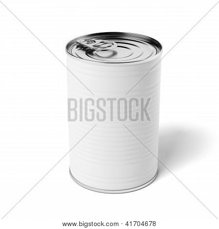 White tin can