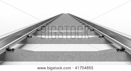 Rails with concrete sleepers