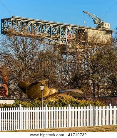 U.S. Navy Shipyard Hammerhead Crane