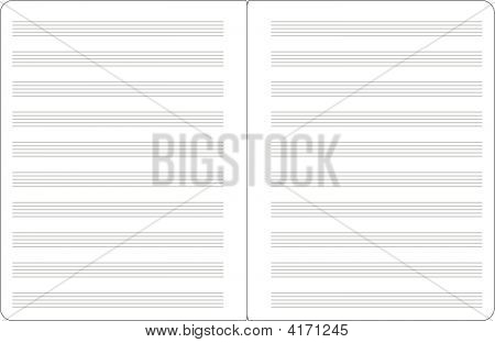Music Notepad Double Page