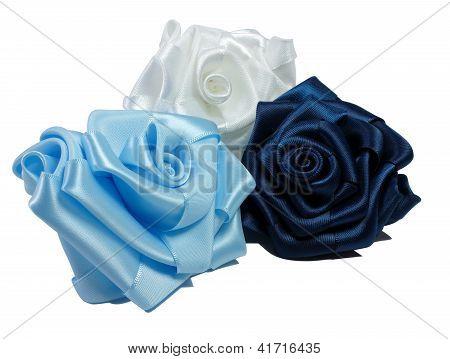 Three Silk Roses
