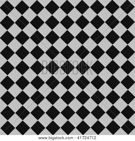 Black And White Slanting Squares Pattern Background