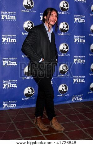 SANTA BARBARA - JAN 29:  Ezra Miller arrives at the  Santa Barbara International Film Festival's 2013 Virtuosos Award at Arlington Theater on January 29, 2013 in Santa Barbara, CA