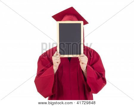 Female Student With Blackboard