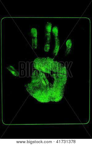 Fluorescent Palm Print