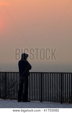 Man Below Sunset