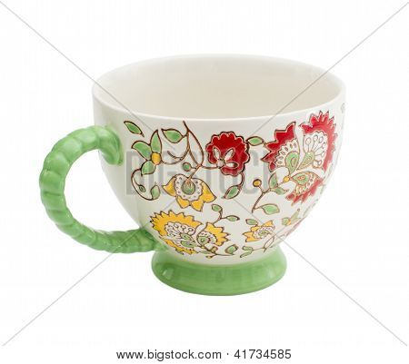 Tea cups isolated on white