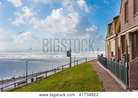 Houses, Looking Over The Frozen Sea