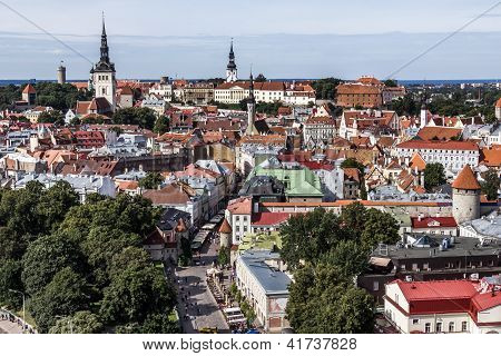 Downtown Of Tallinn City