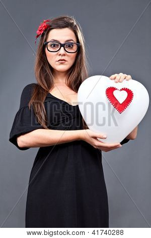 Psycho Lolita Heart Balloon