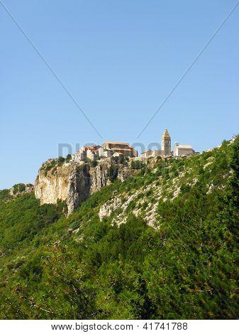 Village Lubenice on island Cres, Croatia