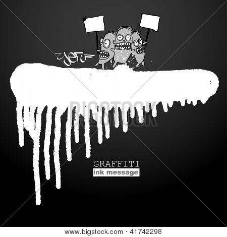 Graffiti style frame background. Urban grunge vector art