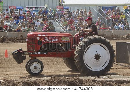The Little Bomb Red Tractor