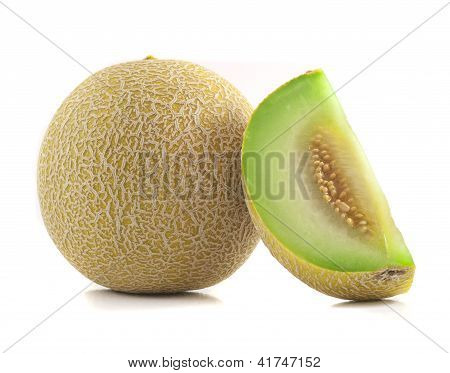 Full And Slice Cantaloupe