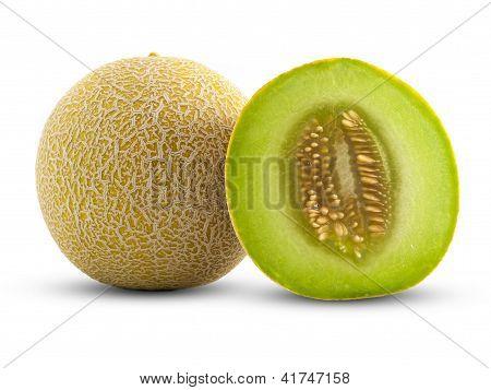 Full And Half Cantaloupe