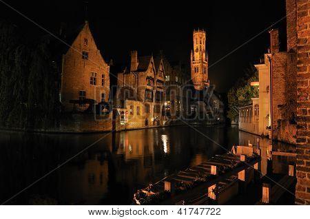 Brugge In Night