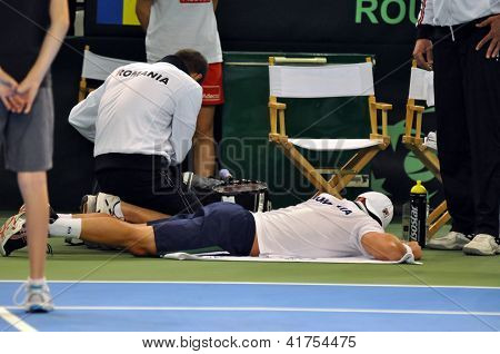 Tennis player suffered an accident