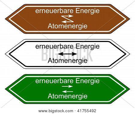 Richtung Zeichen Energie