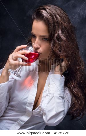 Woman And Wine